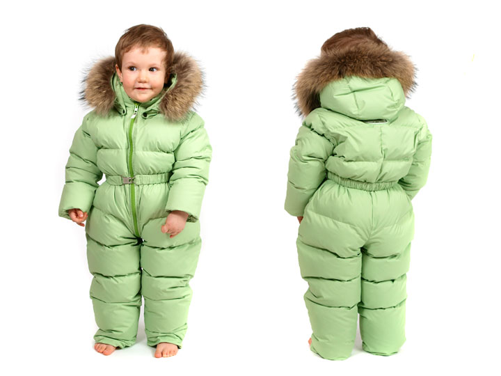 Детский зимний комплект на натуральном меху на 1 5 года