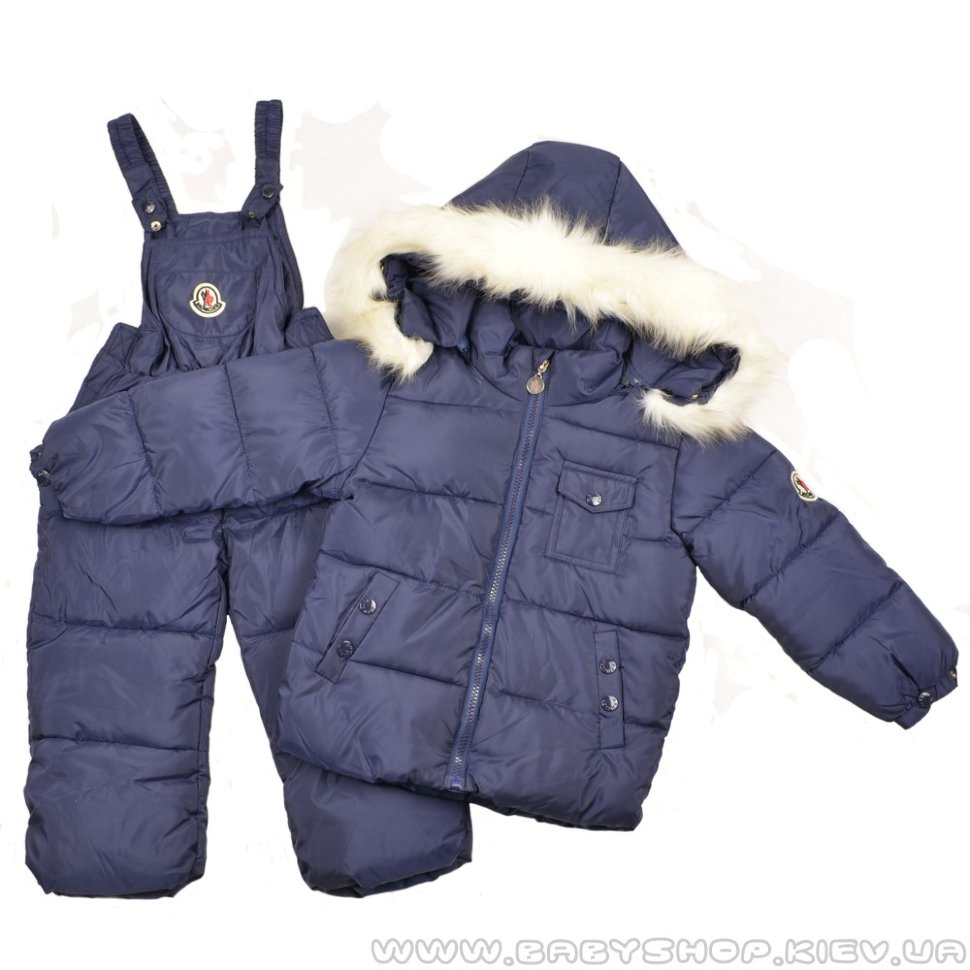 8f277af6c690 Детский комбинезон Moncler (тёмно-синий)