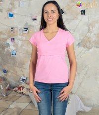 938c3f5154b Футболка для беременных и кормящих «Натали» (розовая)