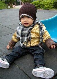 Детские двусторонние шапочки (коричневые) febf6dc5bf6cd