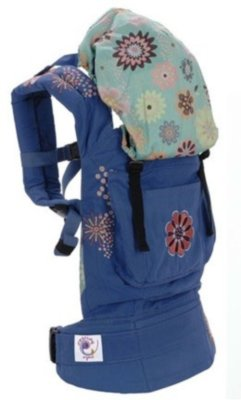 ERGObaby Carrier Organic Fashion Blue Starburst