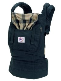 ERGObaby Carrier Organic Navy Highland Plaid